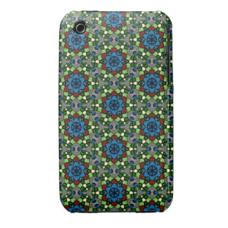 Kaleidoscope Dreams Stained Glass Flower Garden iPhone 3 Cover
