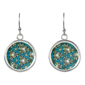 Kaleidoscope Drop Earrings in Blues