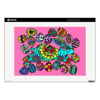 Kaleidoscope Easter Bunny  Pink SKIN Laptop Skin