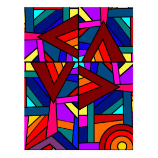 KALEIDOSCOPE EFFECT pattern design Post Cards