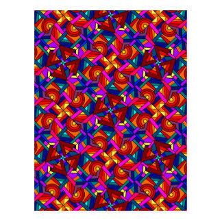KALEIDOSCOPE EFFECT pattern design Post Card