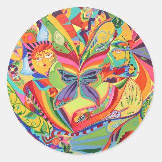 Kaleidoscope Eyes Classic Round Sticker