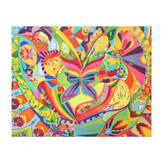 Kaleidoscope Eyes Wrapped Canvas Stretched Canvas Print