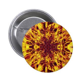Kaleidoscope Fire Explosion Pinback Button