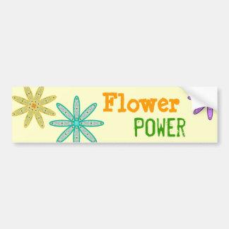 Kaleidoscope Floral Flower Power Bumper Sticker
