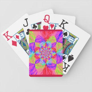 Kaleidoscope Flower Bicycle Playing Cards
