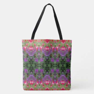 Kaleidoscope Flower Pattern 19 LARGE Tote Bag