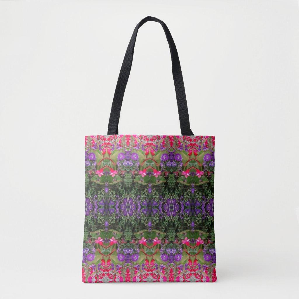 Kaleidoscope Flower Pattern 2 Medium Tote Bag