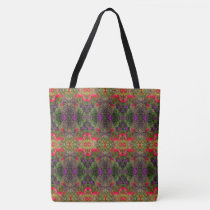 Kaleidoscope Flower Pattern 4 LARGE Tote Bag