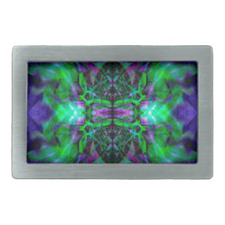 Kaleidoscope flower pattern belt buckle