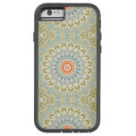 Kaleidoscope Flowers in Green, Blue and Orange Tough Xtreme iPhone 6 Case