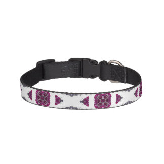 Kaleidoscope Flowers | Pink & Purple #1 Dog Collar