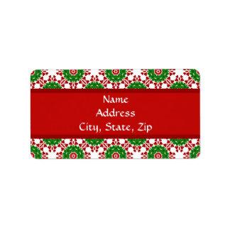 Kaleidoscope for Christmas Custom Address Labels