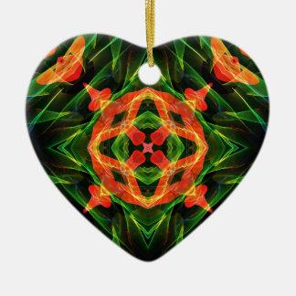 Kaleidoscope Fractal 141 Ceramic Ornament