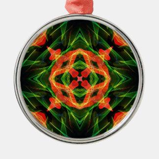 Kaleidoscope Fractal 141 Metal Ornament