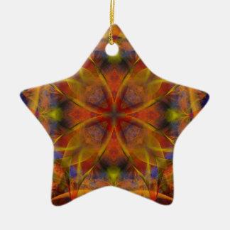 Kaleidoscope Fractal 151 Ceramic Ornament