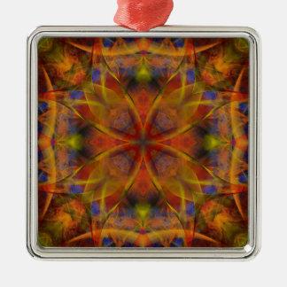 Kaleidoscope Fractal 151 Metal Ornament