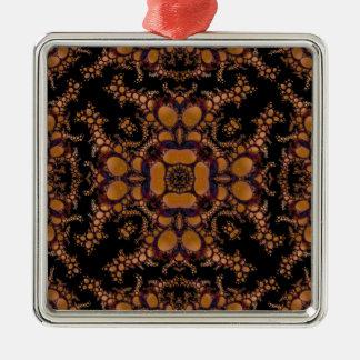 Kaleidoscope Fractal 157 Metal Ornament
