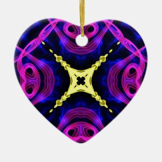 Kaleidoscope Fractal 163 Ceramic Ornament