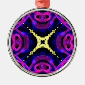 Kaleidoscope Fractal 163 Metal Ornament