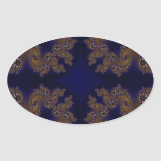 Kaleidoscope Fractal 266 Oval Sticker