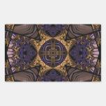 Kaleidoscope Fractal 286 Rectangular Sticker