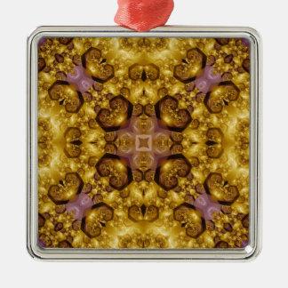Kaleidoscope Fractal 322 Metal Ornament