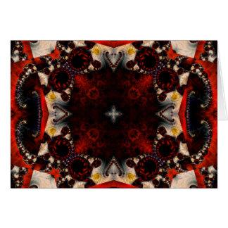 Kaleidoscope Fractal 357 Card