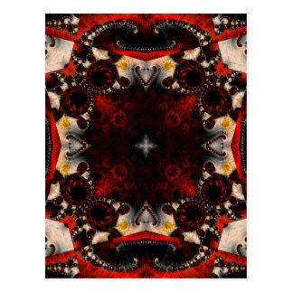 Kaleidoscope Fractal 357 Postcard