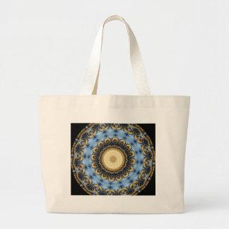 Kaleidoscope Fractal 369 Tote Bags
