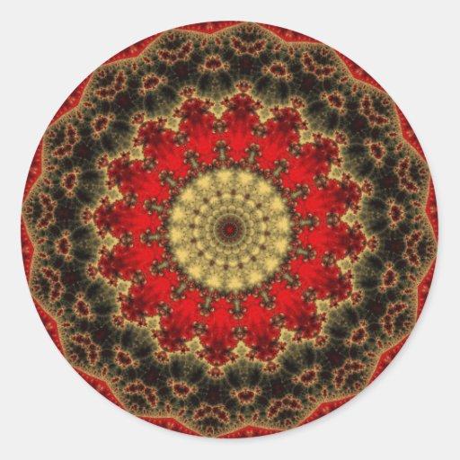 Kaleidoscope Fractal 371 Classic Round Sticker