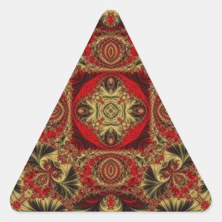 Kaleidoscope Fractal 401 Triangle Sticker