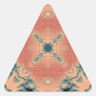 Kaleidoscope Fractal 442 Triangle Sticker