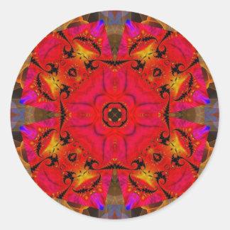 Kaleidoscope Fractal 460 Classic Round Sticker
