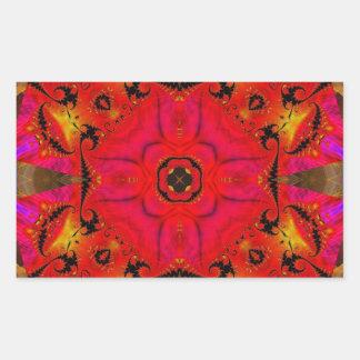 Kaleidoscope Fractal 460 Rectangular Sticker