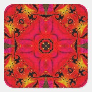 Kaleidoscope Fractal 460 Square Sticker