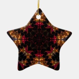 Kaleidoscope Fractal 467 Ceramic Ornament