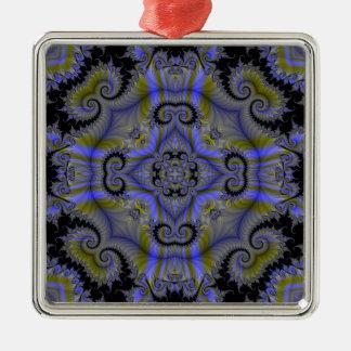 Kaleidoscope Fractal 500 Metal Ornament