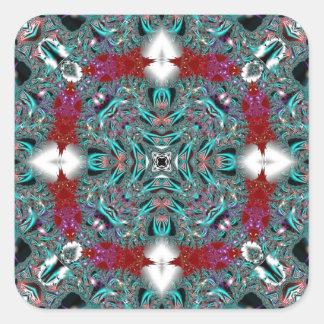 Kaleidoscope Fractal 510 Square Sticker