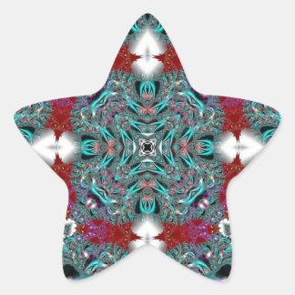Kaleidoscope Fractal 510 Star Sticker