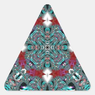 Kaleidoscope Fractal 510 Triangle Sticker