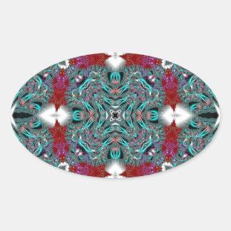 Kaleidoscope Fractal 510 Oval Sticker