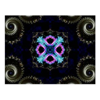 Kaleidoscope Fractal 550 Postcard