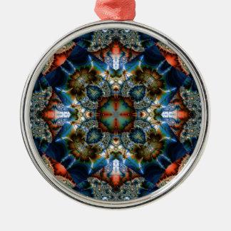 Kaleidoscope Fractal 576 Metal Ornament