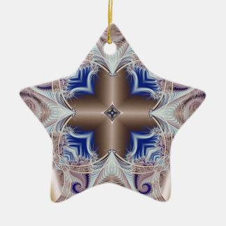 Kaleidoscope Fractal 597 Ceramic Ornament