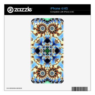 Kaleidoscope Fractal 635 Decal For iPhone 4