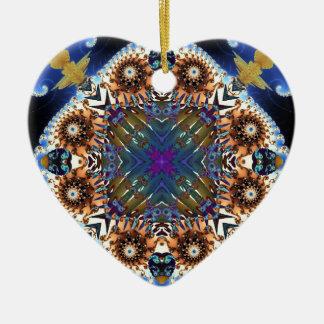 Kaleidoscope Fractal 645 Ceramic Ornament