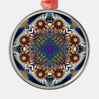Kaleidoscope Fractal 645 Metal Ornament