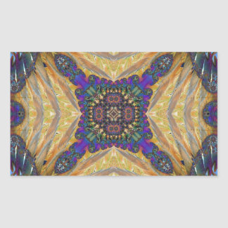 Kaleidoscope Fractal 648 Rectangular Sticker