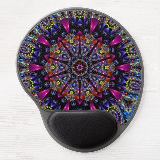 Kaleidoscope Fractal Design Gel Mouse Pad